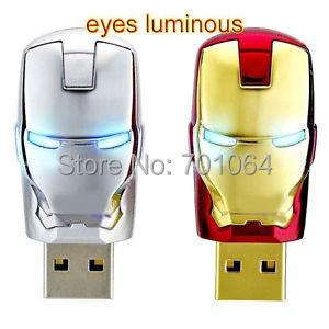 USB 2,0 флэш-накопитель Железный человек USB флэш-накопитель 4 ГБ 8 ГБ 16 ГБ 32 ГБ флеш-накопитель U диск