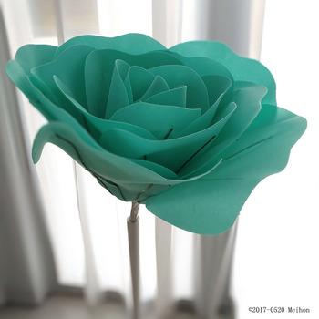 Duża pianka fałszywe kwiaty sztuczne róże zestaw europejski styl ślub kwiat ściana ślub okno tło układ tanie i dobre opinie Ślub PMM70520 Rose Kwiat Głowy Sztuczne Kwiaty MEIHON Bubble flower Ręcznie Bukiet Nawet White pink green purple red