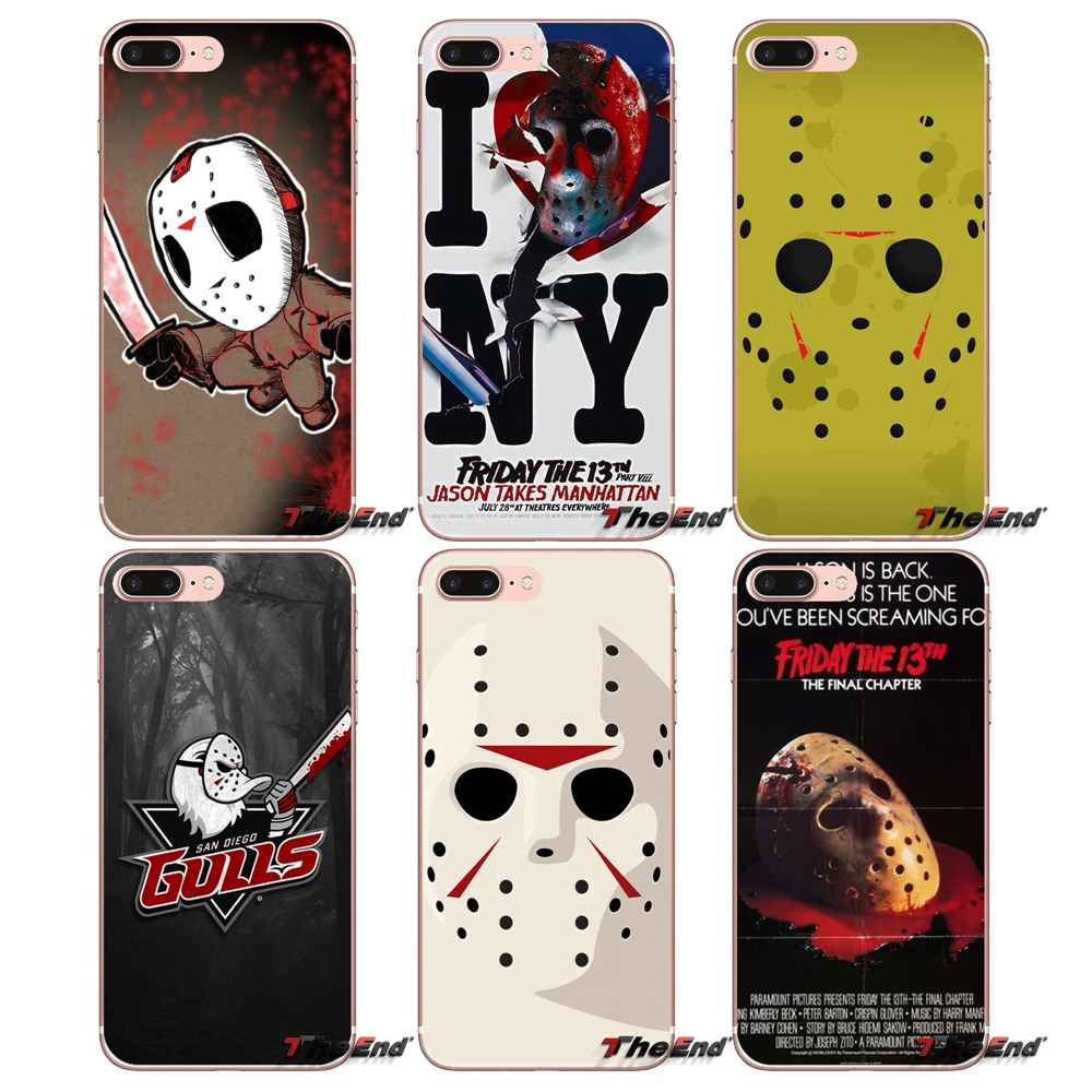 79a012aa1d6 Accessories Covers For Xiaomi Mi6 Mi 6 A1 Max Mix 2 5X 6X Redmi Note 5 5A  4X 4A A4 4 3 Plus Pro horror film Friday the 13th mask