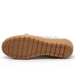 Image 5 - Dobeyping mocassins dété pour femmes, chaussures ajourées en vrai cuir, chaussures plates, mocassins respirants, tailles 35 à 41, collection 2018