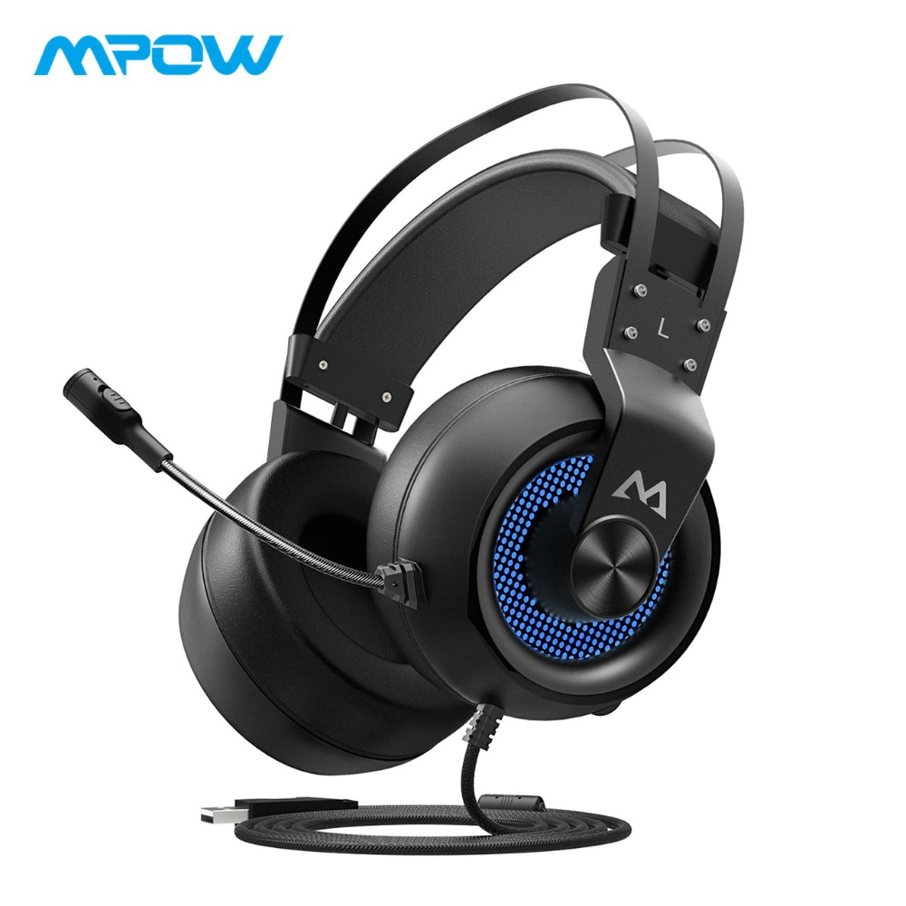 где купить Mpow EG3 Gaming Headset USB 7.1 Surround Sound Headset Wired Over Ear Headphones With Mic&Volume Control For Internet cafe/PC по лучшей цене