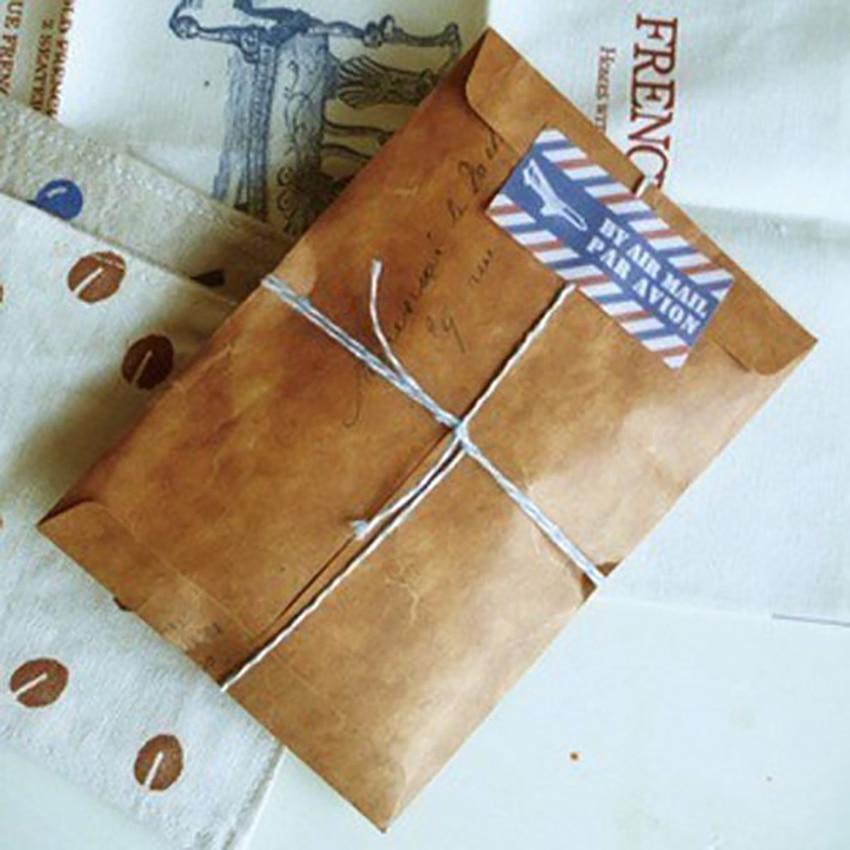 10pcs/lot Kraft Wax Envelopes Vintage Postcard Cover Wedding Invitation Stationery Writing Letter Storage Pouch 16*11cm Envelope