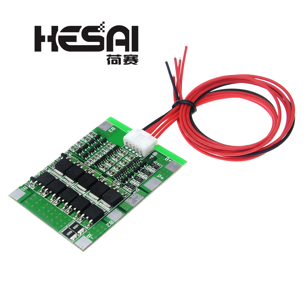 4S 30A 14.8V Li-ion Lithium 18650 Battery BMS Packs PCB Protection Board Balance Integrated Circuits Electronic Module image