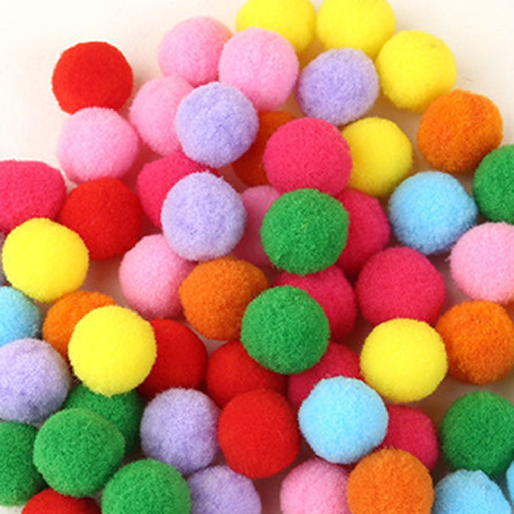 100Pcs Fluffy Soft Pompom Balls Handmade Kids Toys Wedding Decoration DIY Pom Poms Felt Ball Sewing Craft Supplies 15/20/25mm