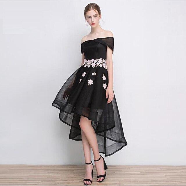 633aaa1bd6 Beautiful Style Short Sleeve Black Homecoming Dress Designer High-Low  Fashion Ladies Dress Vestido de coctel