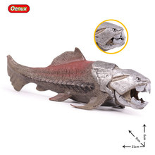 Oenux Prehistoric Life Dunkleosteus Fish Animals Model Sea Terrelli Mouth Can Open Action Figures Toy For Kids