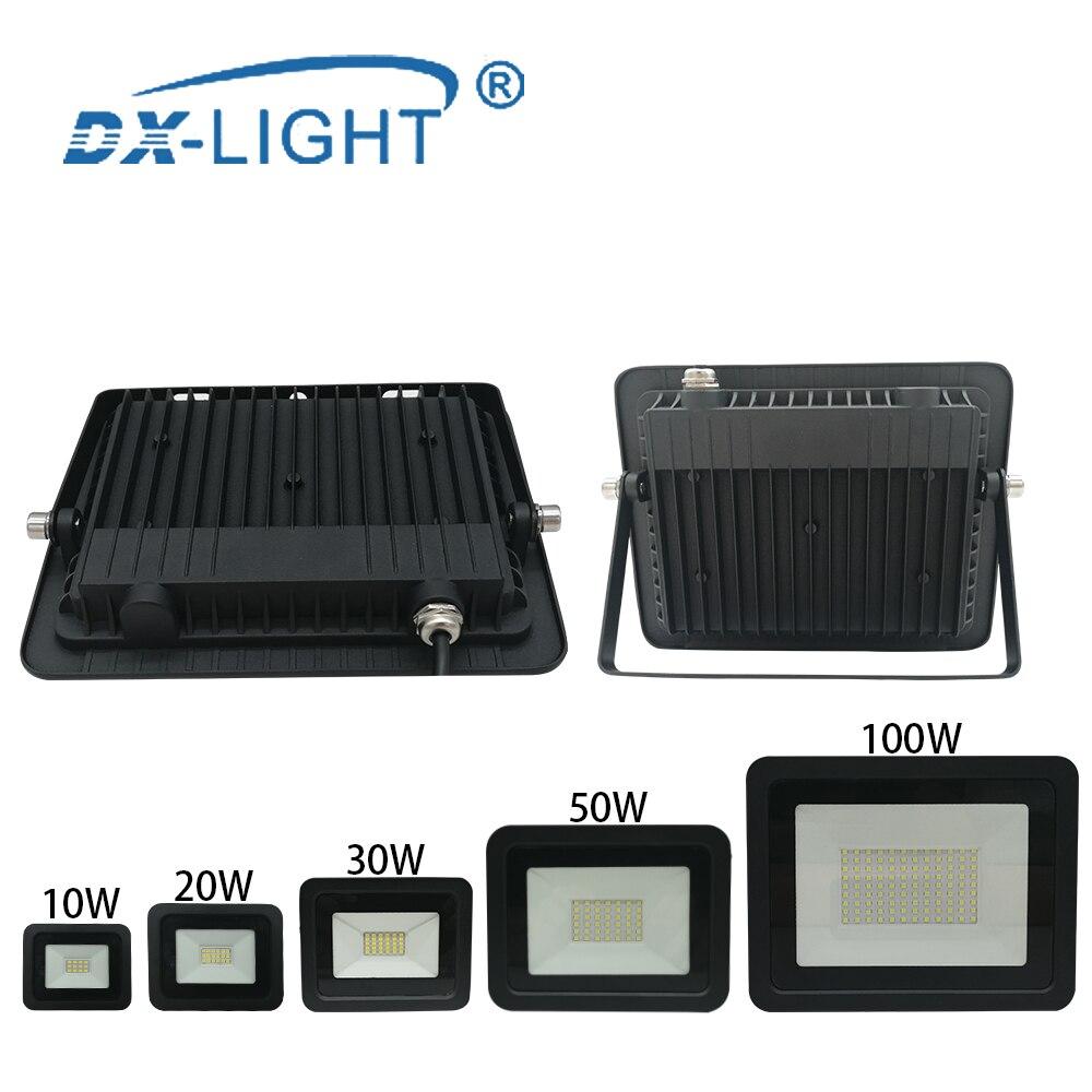 Ультратонкий Светодиодный прожсветильник Тор 110 В/220 В, 10 Вт, 20 Вт, 30 Вт, 50 Вт, 100 Вт, светодиодный прожектор s, ЛАМПА IP68, водонепроницаемый свето...