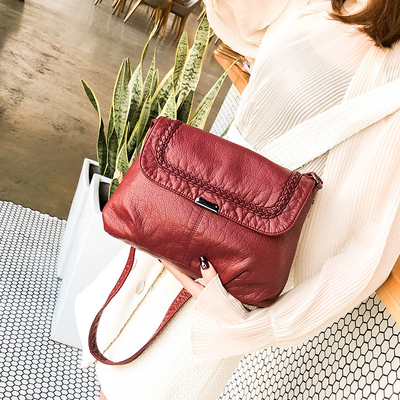 High Quality Soft Leather Handbags Causal Portable Crossbody Bags Sac a Main Femme Ladies Messager Bag Long Strap Female Clutch