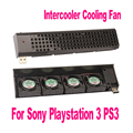 Novo usb 4 quad 40mm ventilador ventiladores cooler para sony playstation 3 ps3 preto fc