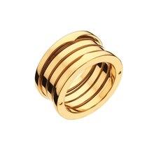 Hot Sale Original Design Titanium Steel Spring Narrow Ring for Women Men Couple Wedding Engagement Ring Bulgaria Jewelry