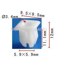 100x OEM Nylon Grommet Clip Nut #8 Screw Size for Ford 379830-S, for Chrysler: 6033677