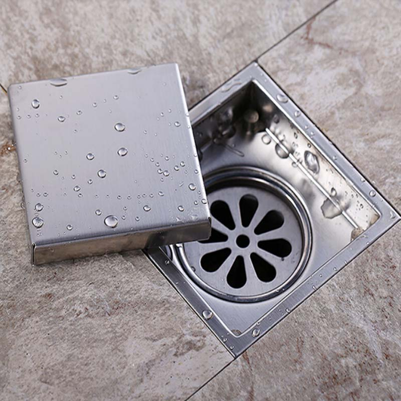 Aliexpress Com Buy Modern Bathroom Shower Floor Drain Washer Waste Drain  Modern Square Grate Free Shipping