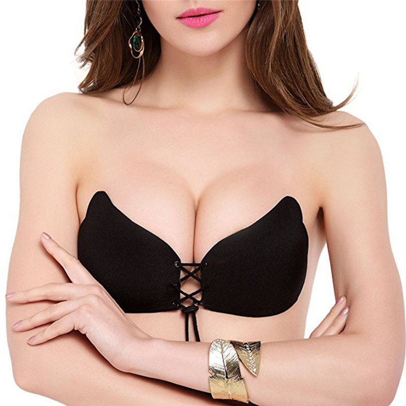 ddaa416031ede JAYCOSIN Women Sexy Instant Breast Lift Nylon Invisible Silicone Push Up  Wire Free Strapless Solid Bra  30-in Bras from Underwear   Sleepwears on ...