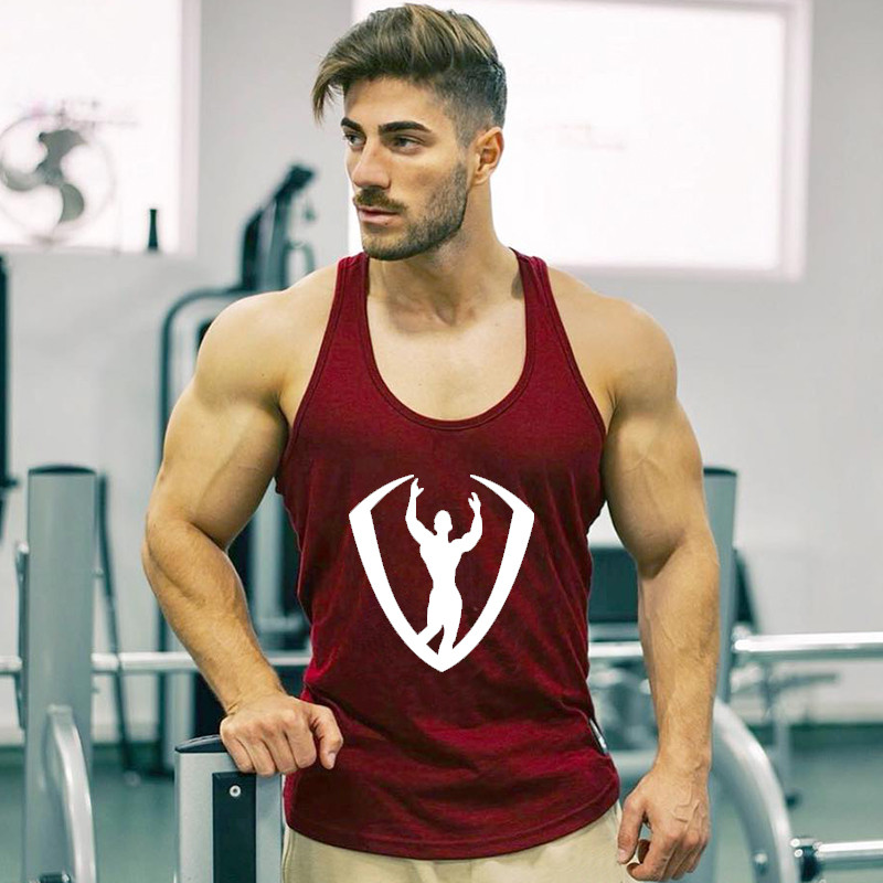 2019 New Arrival Gyms Stringer   Tank     Top   Men Bodybuilding and Fitness Men's Singlets   Tank     Top   Shirts gyms Clothes Sportswear Vest