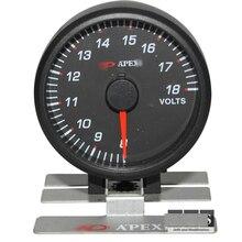 2.5 ДЮЙМОВ 60 ММ Авто Apex * Индикатор Напряжения, гоночный автомобиль вольтметр вольтметр для toyota supra jza80 jza70 левин ae86 ft 86