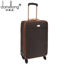 DANXILONG Business Password PU Luggage Board Chassis Suitcase Bag Caster Men Women 20 22 inch Travel Trolley Case Bags Plaid Box