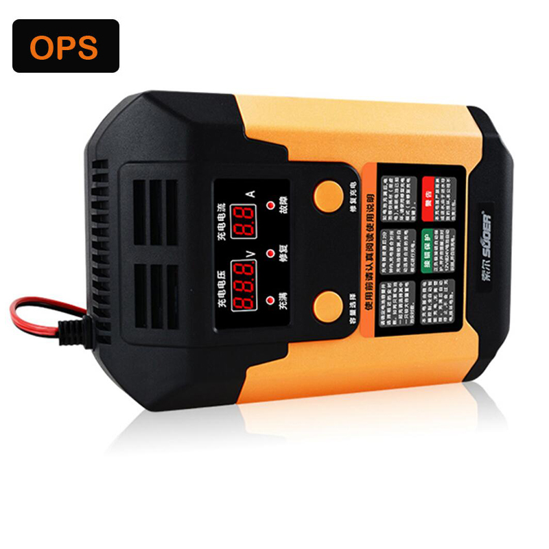 купить 12V/24V LCD Auto smart repair Lead Acid battery repair charger&Automatische Lood-zuur Acculader,Desulfator for Car/Motorcycle онлайн