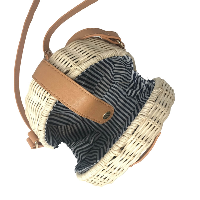 Square Round Mulit Style Straw Bag Handbags Women Summer Rattan Bag Handmade Woven Beach Circle Bohemia Handbag New Fashion 15
