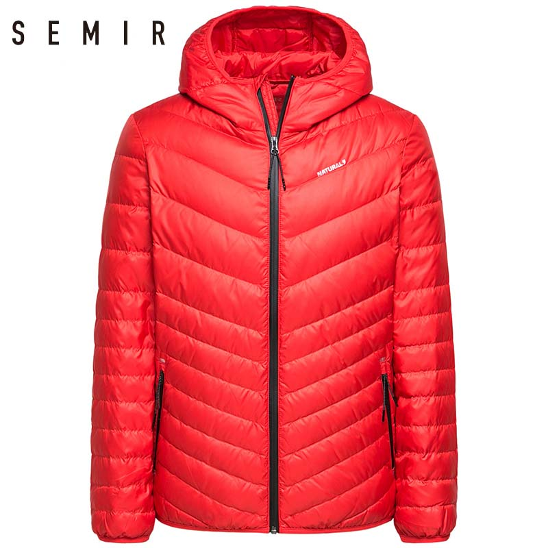 Semir Casual Hooded Duck Down Jacket Mens Winter Warm Coat Mens Duck Down Jacket Male Windproof winter jacket male clothes
