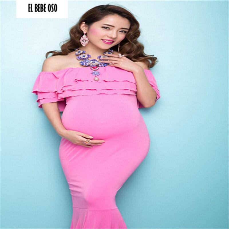 EL BEBE OSO Maternity shoot Dresses Pink Fishtail