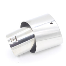 Dongzhen Universal car Rear Exhaust Muffler Tail Pipe throat Stainless Steal Chrome Tip tubing System Fit for Toyota HONDA BUICK