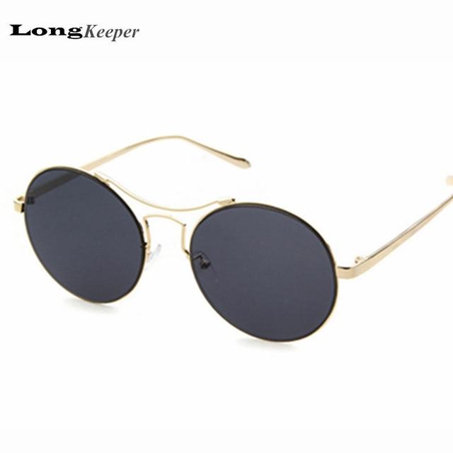 Bending Plastic Frame Glasses : 2016 New Round Sunglasses Metal Frame Glasses Brand ...