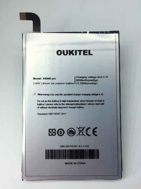 Nuevo 100% Para Oukitel K6000 Pro 6000 Mah Li-polímero de Litio Y 2016 Oq01 + Herramientas + Línea de Carga + Entrega inmediata