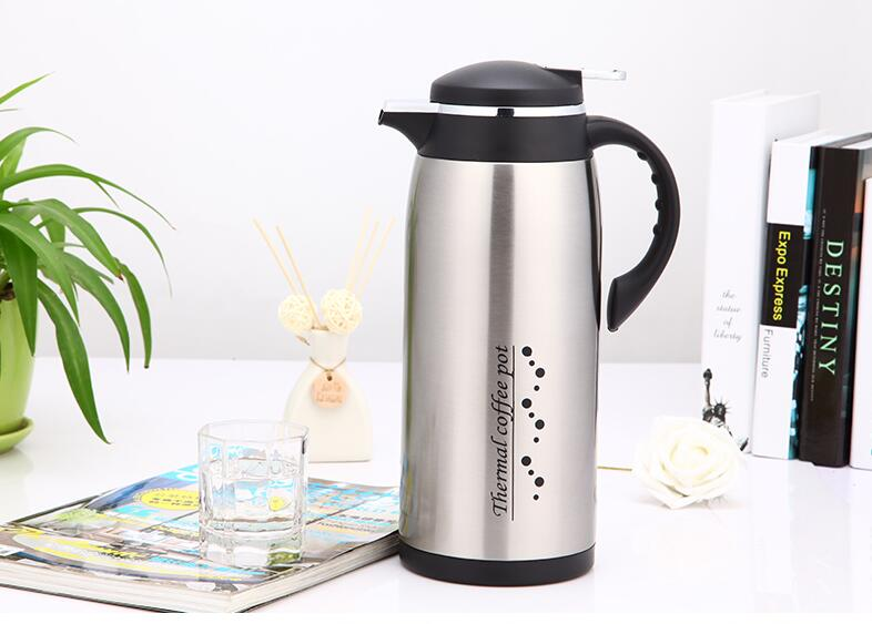 stainless steel vacuum insulated thermal carafe coffee flask cafetiere 1l13l - Thermal Carafe