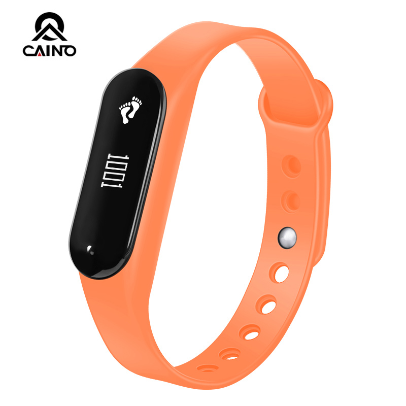 CAINO Bracelet Wristband Pedometer Smart Watch Heart Rate Monitor Women's Men's Fitness watches Bluetooth for Android /IOS Phone