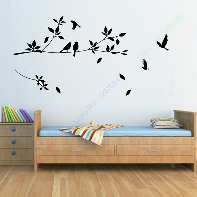 new tree and birds art wall decals stikers for wall decoration for a