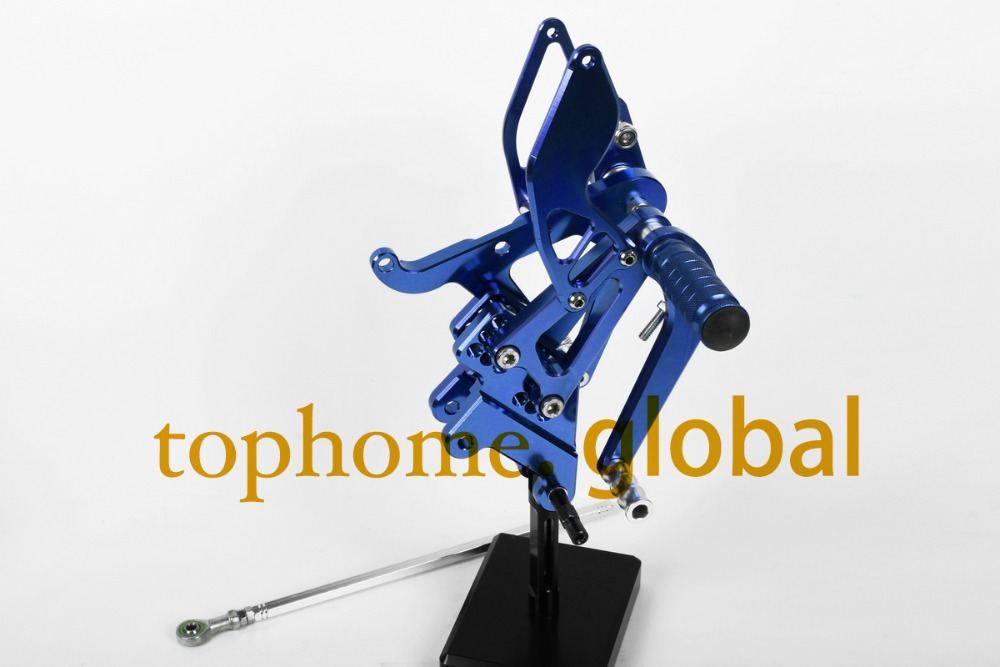 Motorcycle Parts Blue CNC Rearsets Foot Pegs Rear Set For Yamaha YZF R6 2003-2005 2004 motorcycle foot pegs morais r the hundred foot journey