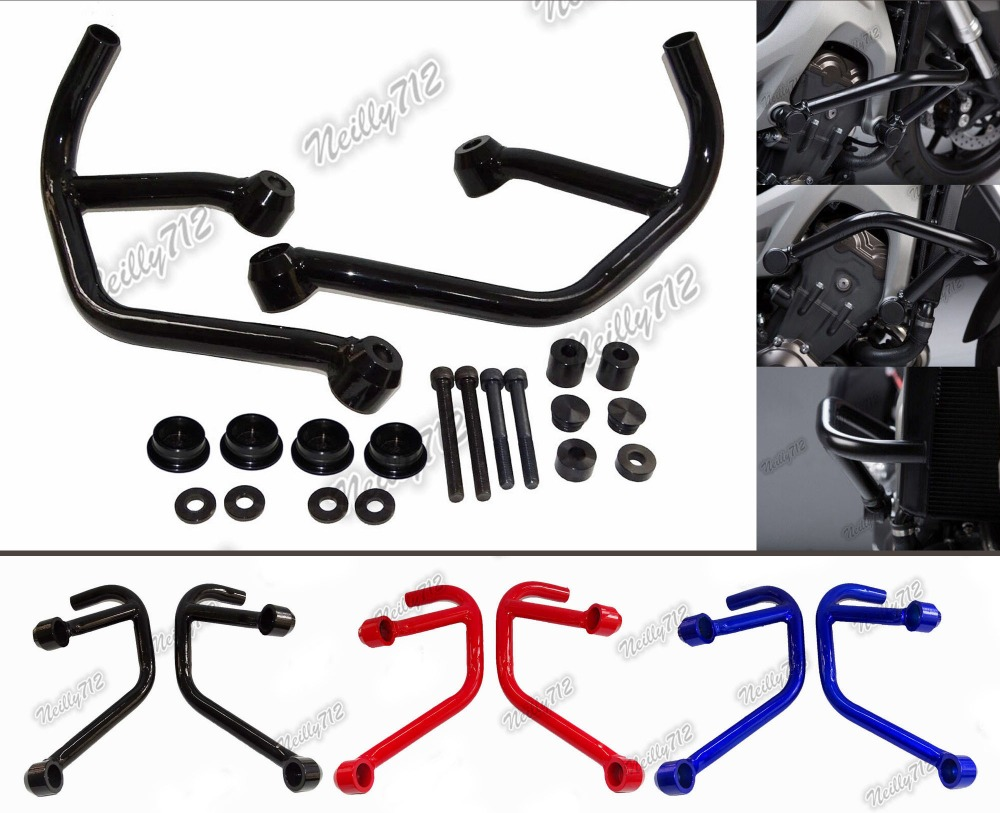 waase 25mm Engine Guard Crash Bars For YAMAHA MT FZ 09 MT-09 Tracer FZ-09 MT09 FZ09 RN29 2013 2014 2015 2016 engine bumper guard crash bars protector steel for yamaha mt09 mt 09 fz07 fz 09 2014 2016 2014 2015 2016 motorcycle