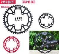 Pq bicicleta chainring 96 bcd 32 t 34 t 36 t 38 t 40 t 42 t 44 t 46 t 48 t bicicleta roda dentada m6000 m7000 m8000 m9000 11/22 velocidade único disco