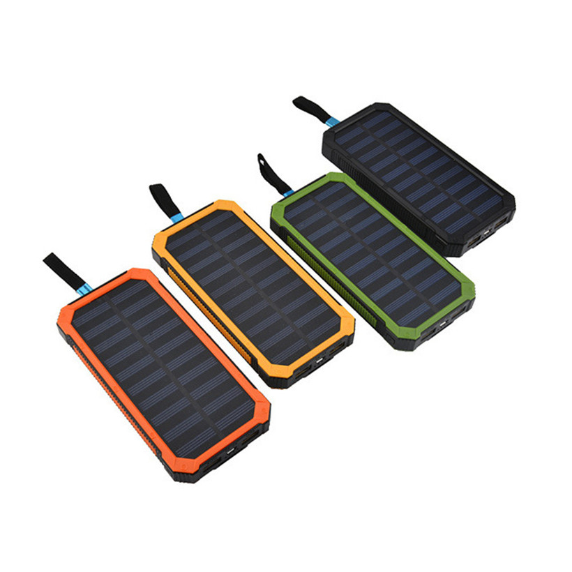 20000mAh Dual USB Portable Solar Battery Charger Solar Power Bank For Phone NEW drop shipping 1018