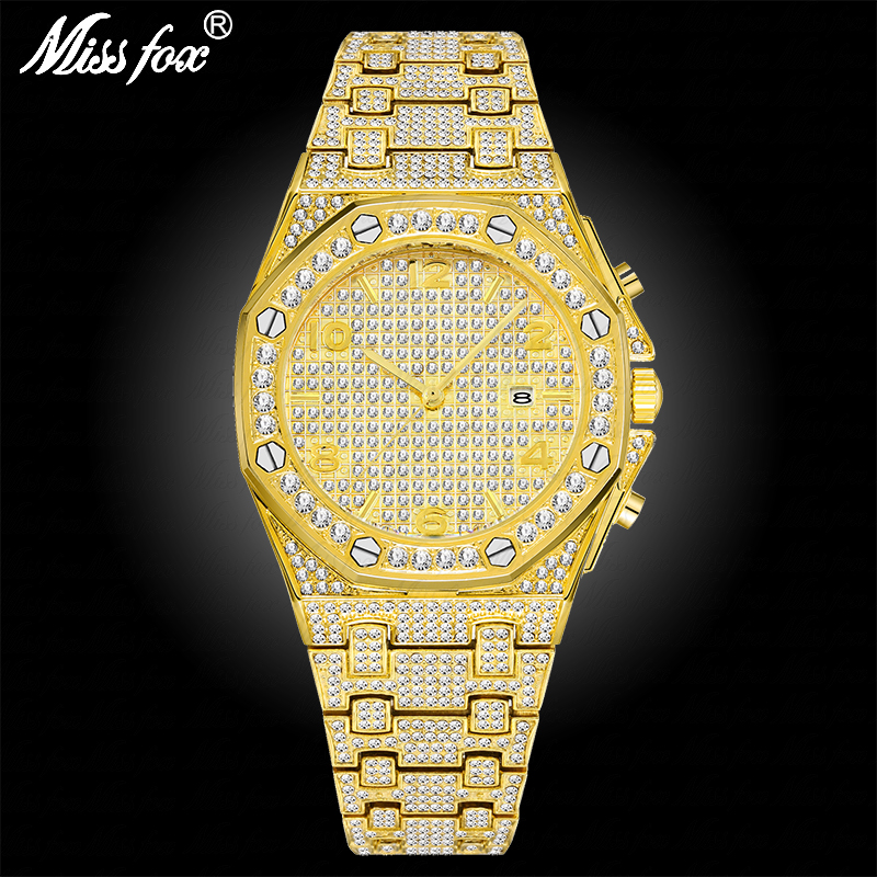 MISSFOX Dropship Suppliers Top Selling Product In 2019 Trend Hublo Watch Patek Waterproof Iced Out MK