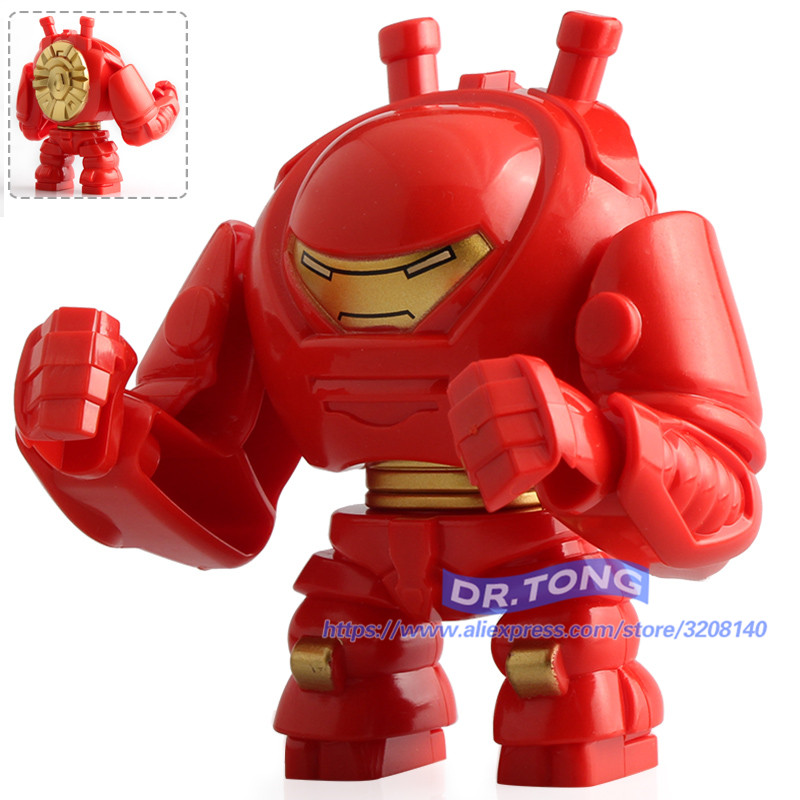 20PCS Super Hero Infinity War Avengers 3 Figures Hulkbuster HULK Action Figure Set Models Building Blocks Bricks Toys Gifts D061 new moive the avengers american captain hulkbuster hulk action figure cute version 12cm height toys collection models kids gift