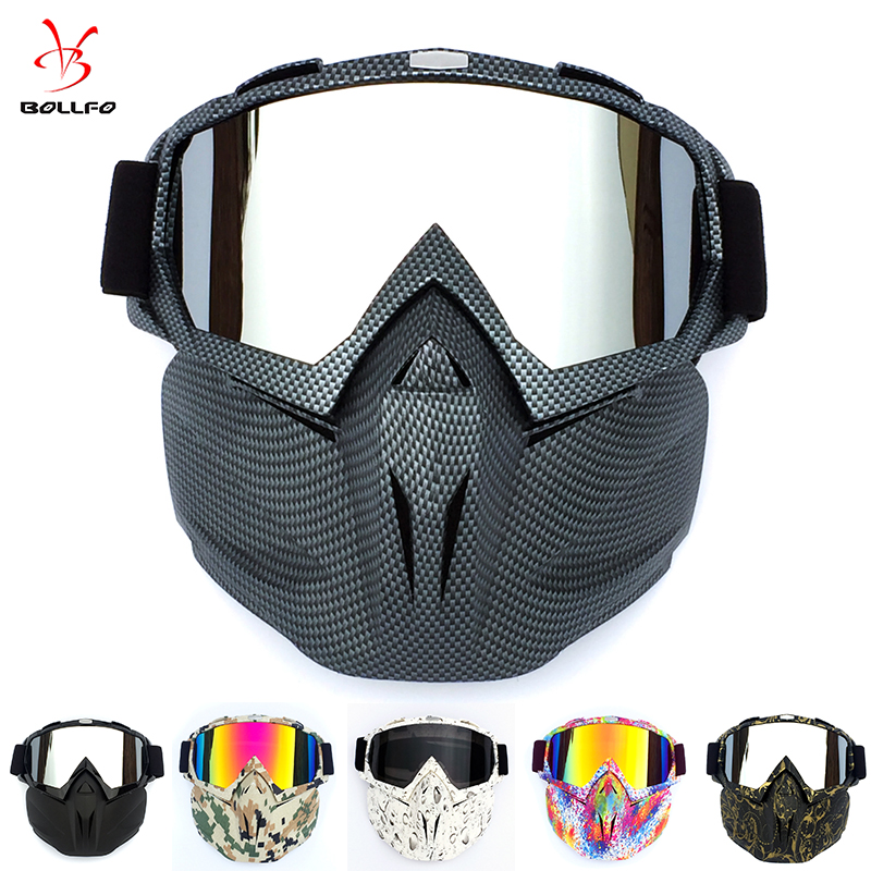 Cycling Helmet Goggle Mask Carbon Style Tough Guy Men Design Breathable Racing ATV Riding Eye Wear windproof Eyepiece Goggles title=