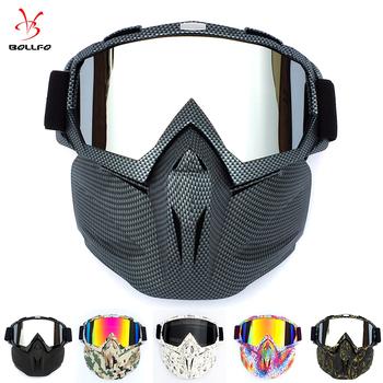 Jazda na rowerze kask gogle maska Carbon styl twardy facet mężczyźni projekt oddychające wyścigi ATV jazda konna okulary tanie i dobre opinie BOLLFO 150mm Poliwęglan 72mm UV400 MULTI BF658