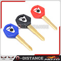 Black Motorcycle Blank Key Uncut Blade for For yamaha YZF R1 R6 FZ1 FZ4 FZ6 FZ8 XJ6 XJR XJR1200 XJR1300 FJR1300 SR400 XVS400