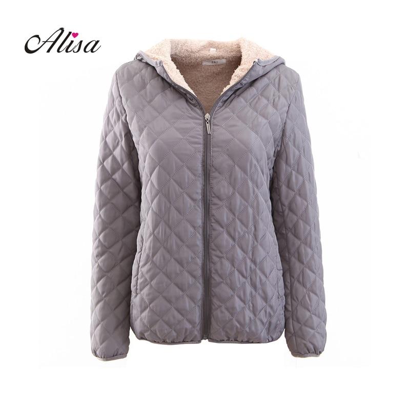 Casaco Feminino Plus Size Wool Keep Warm Quilted Coats