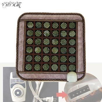New natural jade thermal korea heated mattress indian heating jade cushion 45*45CM