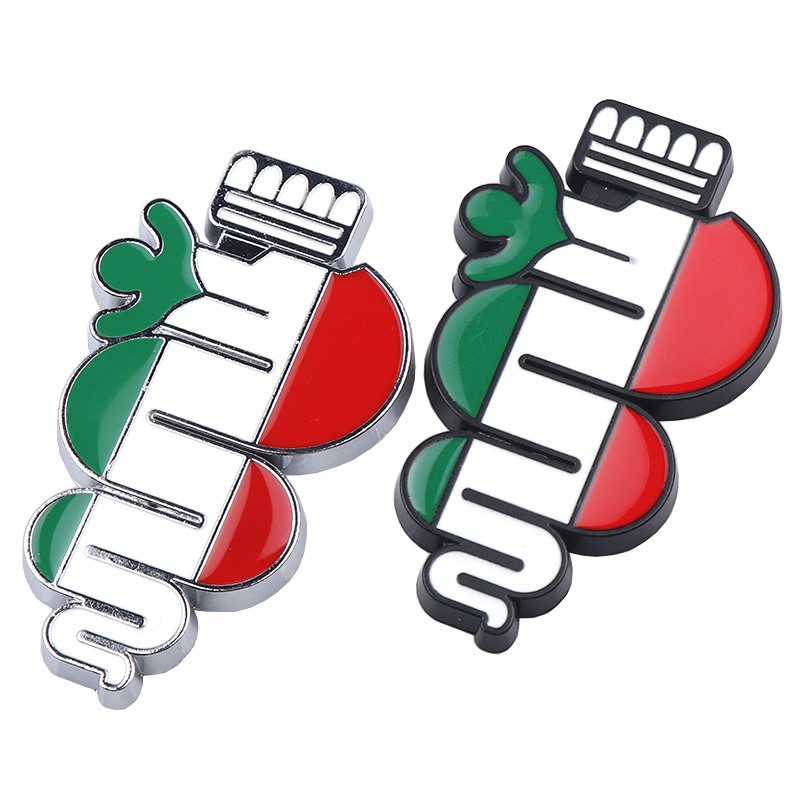 TRICOLOUR 1X 3D Chrome ALFA ROMEO Auto Car Front Grille Badge Emblem sticker For Alfa Romeo Giulietta mito #LQ1072 kit alfa mito