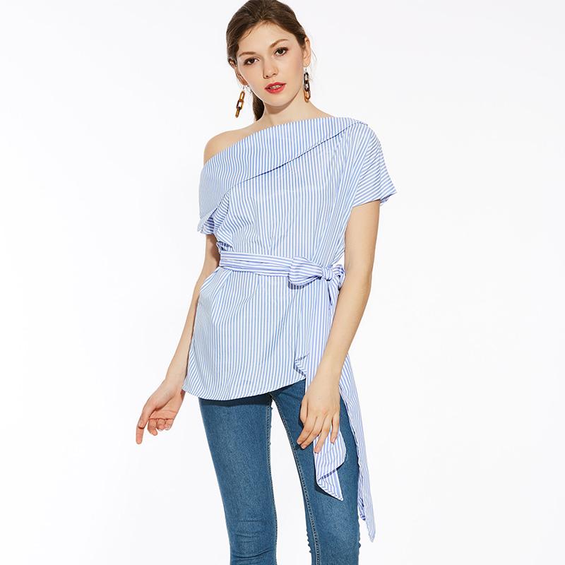 HTB12QKCSFXXXXb7XXXXq6xXFXXX8 - Summer office blouses Off Shoulder Women slash neck