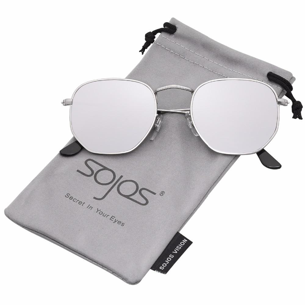 SOJOS Clásico Polígono Espejo Lentes UV Portección Unisex Gafas de Sol Polarizado SJ1072 90PGGdh9Vi
