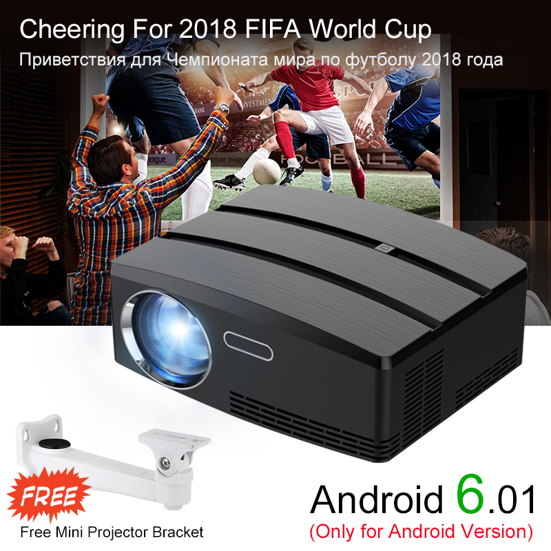 Newpal Projektor GP80 UP Mini Projektor Android 6.01 4 karat/2 karat WIFI Bluetooth Volle HD LED Beamer Unterstützung HDMI miracast Airplay TV