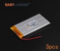 3pcs Lot 3 7V 2000mAh Rechargeable Li Polymer Li Ion Battery For Bluetooth Notebook E Book