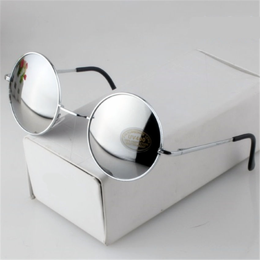 1b7ad8b33431 YOOSKE Women Men Alloy Round Sunglasses Male Female Metal Sun Glasses Gold  Vintage Circle Sunglasses Feminine-in Sunglasses from Apparel Accessories  on ...