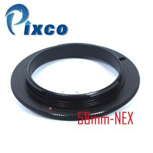 Image 1 - Pixco 49mm 52mm 55mm 58mm lentille Macro anneau adaptateur inverse pour Sony E monture NEX caméra