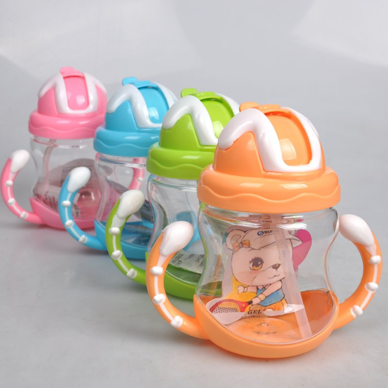 Children Cups Baby Leakproof Lid Handle Portable Straw Cup Baby Learn To Drink A Cup Of Genuine GoodsChildren Cups Baby Leakproof Lid Handle Portable Straw Cup Baby Learn To Drink A Cup Of Genuine Goods