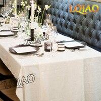 2017 New Sale White Rectangle Sequin Tablecloth 120x200cm,Wedding Table Cloth,Sparkle Sequin Linens,Glitz Sequin Cake Tablecloth